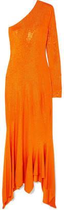 Alexandre Vauthier One-shoulder Crystal-embellished Stretch-jersey Gown - Orange