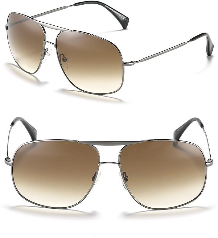 Giorgio Armani Squared Aviator Sunglasses