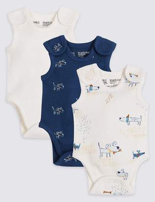 Marks and Spencer 3 Pack Premature Pure Cotton Bodysuits