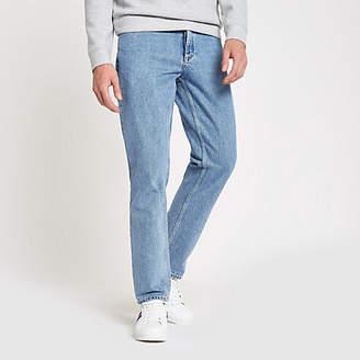 River Island Light blue Dean straight leg jeans