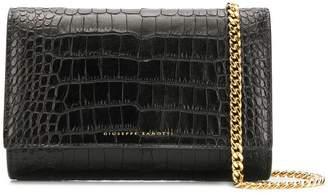 Giuseppe Zanotti crocodile style clutch bag