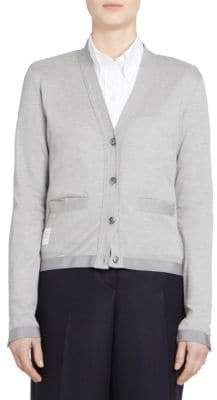 Thom Browne Sheer Back Cardigan