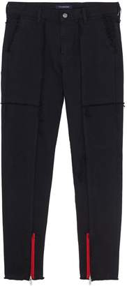 John Undercover Johnundercover Zip cuff raw seam panelled jeans