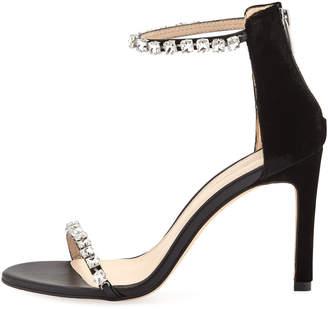 Pelle Moda Frisk Jeweled Velvet High-Heel Dressy Sandals