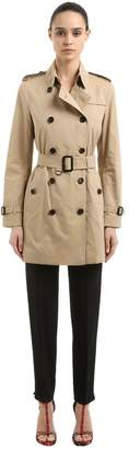Burberry Kensington Mid Cotton Trench Coat