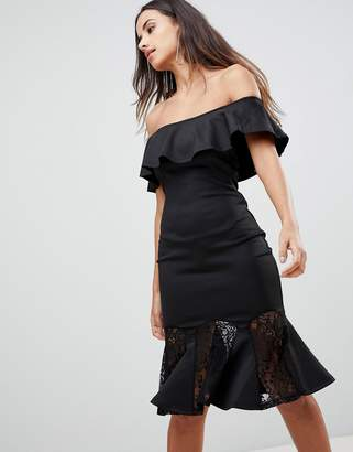 AX Paris Bardot Dress With Lace Pephem