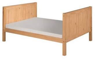 Camaflexi Full Size Tall Platform Bed - Panel Headboard - Natural Finish