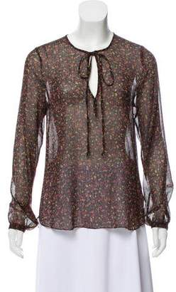 L'Agence Long Sleeve Printed Blouse