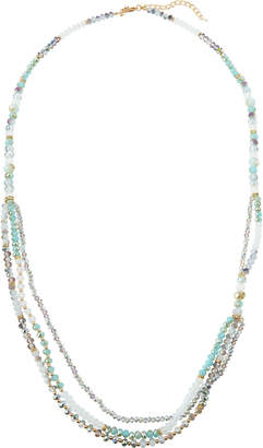 Greenbeads Extra-Long Strand Necklace, Mint