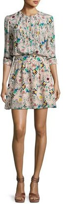 Zadig & Voltaire Remus Tattoo Pleated Silk Dress $448 thestylecure.com