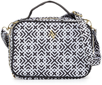 Adrienne Vittadini Geometric-Print Polyester Lunch Bag, Black/White $26 thestylecure.com