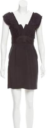 Alberta Ferretti Virgin Wool-Blend Mini Dress