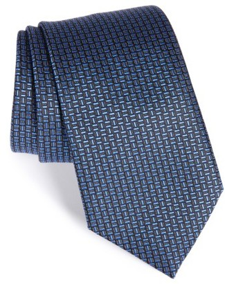 Men's Ermenegildo Zegna Geometric Silk Tie $195 thestylecure.com