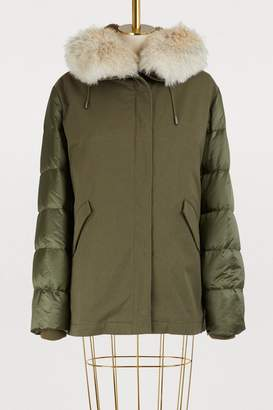 Yves Salomon Army Fur-lined cotton and nylon parka