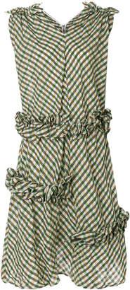 Stefano Mortari asymmetric checked dress
