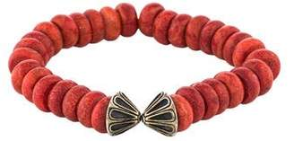Elizabeth and James Coral Bead Split Bracelet