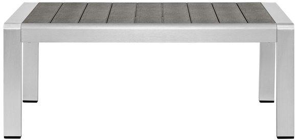 Modway Beach Outdoor Patio Aluminum Coffee Table
