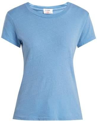 Hanes Re/Done Originals Re/done Originals - X 1960s Cotton T Shirt - Womens - Light Blue