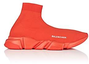 Balenciaga Men's Speed Knit Sneakers - Red