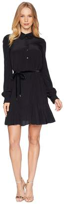 Juicy Couture Solid Silk Shirtdress Women's Dress