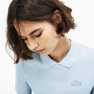 Lacoste Women's LIVE Teardrop Opening Mini Pique Polo Shirt