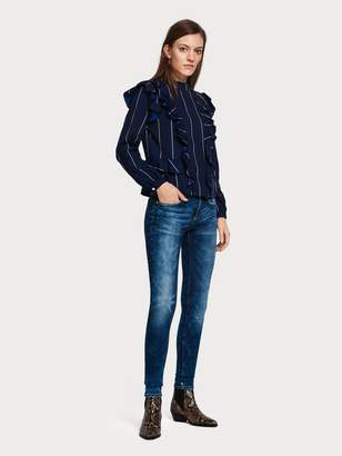 Scotch & Soda La Bohemienne - Blauw in the WildMid rise skinny fit