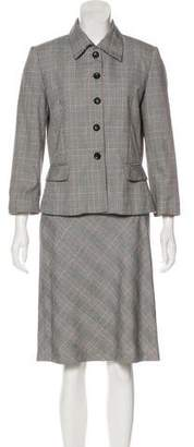Perry Ellis Houndstooth Skirt Suit