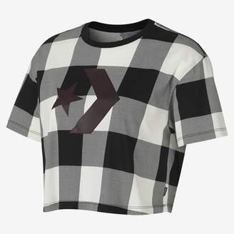 Converse Buffalo Plaid Star Chevron Easy Crop Womens T-Shirt