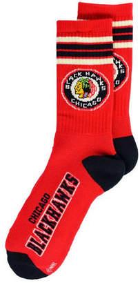 For Bare Feet Chicago Blackhawks Retro 4 Stripe Deuce Crew Socks
