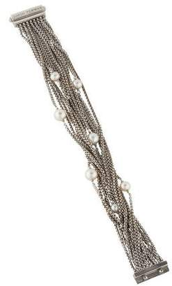 David Yurman Pearl 16-Row Chain Bracelet
