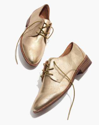 Madewell The Frances Oxford in Metallic