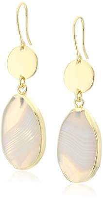 "Diane von Furstenberg Disco Agate"" Agate Stone Drop Earrings"