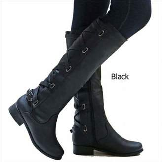 betterluse Winter Boots Fashione High Winter Boots Soft Leather Boots Woman Zip Women Knight's Style Boots