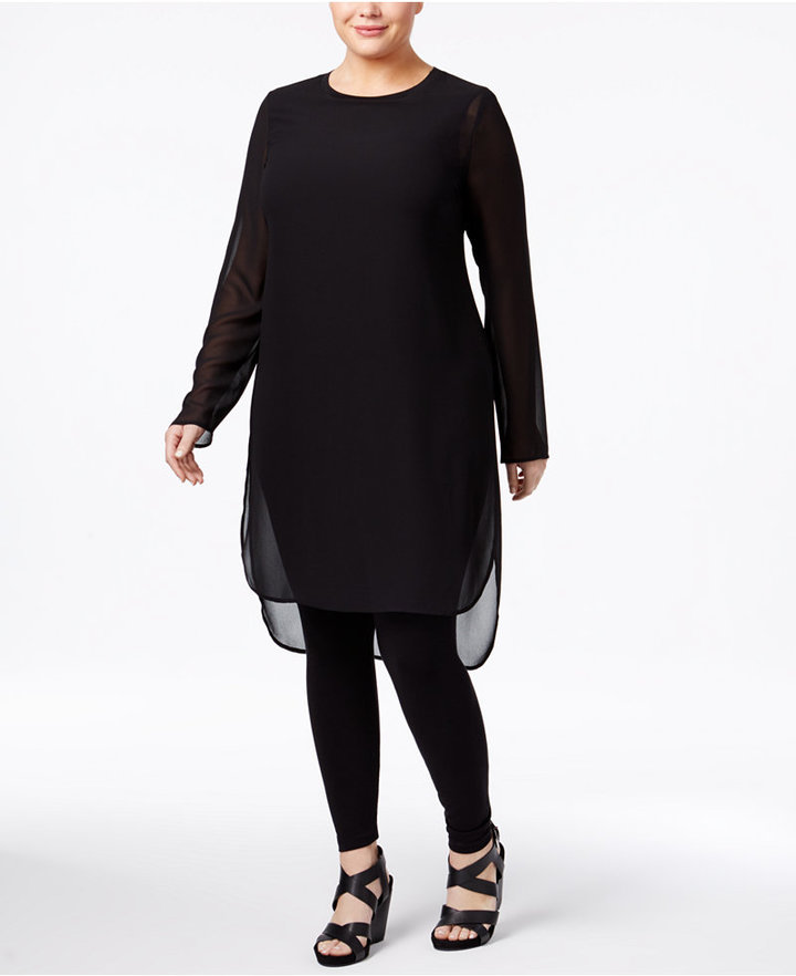 Alfani Alfani Plus Size Illusion Tunic, Only at Macy's