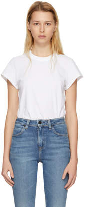 Alexander Wang White High Twist Bodysuit