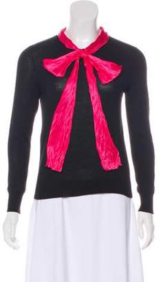Gucci Cashmere Bow-Accented Sweater Black Cashmere Bow-Accented Sweater