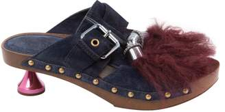 Louis Vuitton Navy Pony-style calfskin Mules & Clogs
