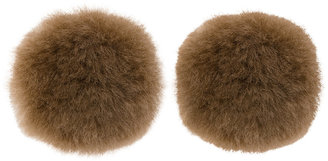 Fur Button earrings