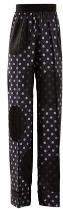 Maison Margiela High-rise polka-dot print trousers