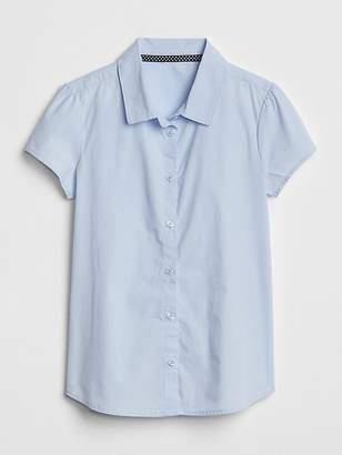 Gap Uniform Poplin Short Sleeve Shirt