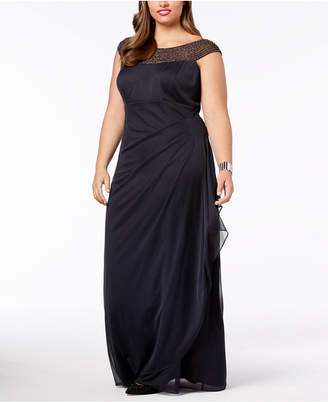Xscape Evenings Plus Size Embellished Ruched Gown
