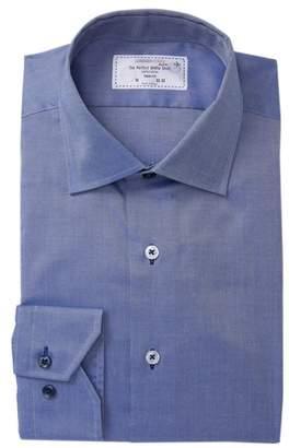 Lorenzo Uomo Solid Texture Trim Fit Dress Shirt