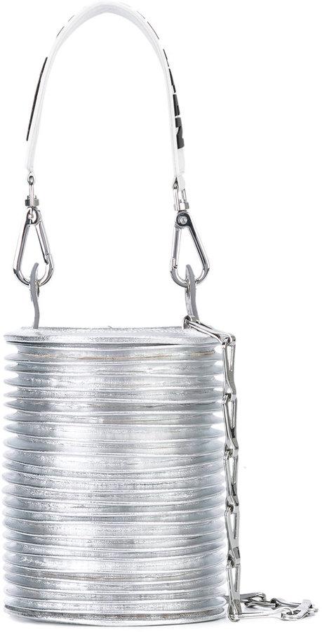 Paco Rabanne ridged bucket bag