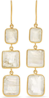Pippa Small 18-karat Gold Moonstone Earrings
