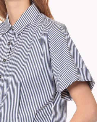 Theory (セオリー) - 【Theory】Hartman Stripe Cropped Buttondown