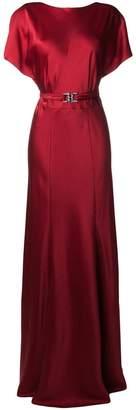 Alberta Ferretti wrap back gown