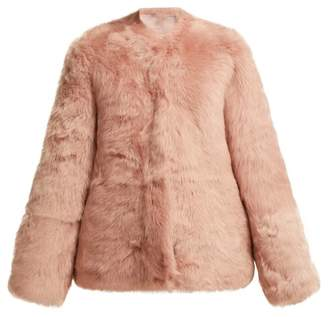 Raey 1970s Shearling Coat - Womens - Light Pink