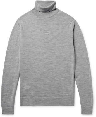 at Mr. Porter John Smedley Cherwell Mélange Merino Wool Rollneck Sweater