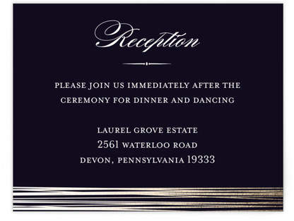 Evening Elegance Foil-Pressed Reception Cards