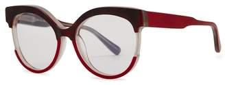 Marni Burgundy Cat-eye Optical Glasses
